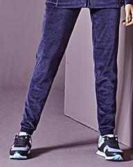 Velour Joggers Short Leg