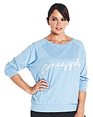 Pineapple Long Sleeved Batwing Top