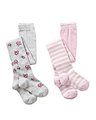 KD MINI Girls Pack of 2 Tights (2-6yrs)