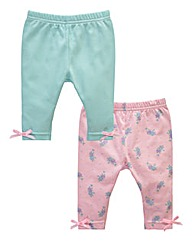 KD BABY Girls Pack of Two Leggings