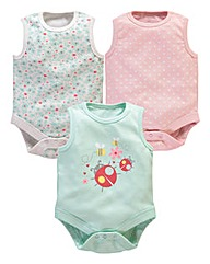 KD BABY Girls Pack of 3 Bodysuits