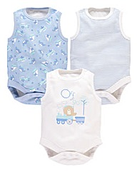 KD BABY Boys Pack of 3 Bodysuits
