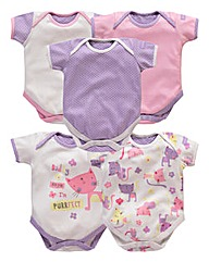 Lollipop Lane Girls Five Pack Bodysuits
