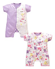 Lollipop Lane Girls Two Pack Rompers