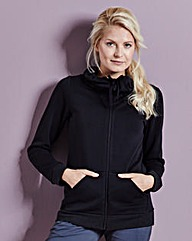 Zip Front Cowl Neck Jacket