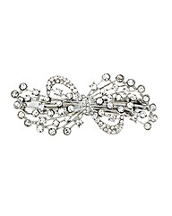 Mood Crystal Bow Hair Barrette