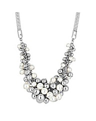 Mood Pearl and Ball Cluster Necklace