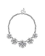 Mood Pearl Crystal Metal Flower Necklace