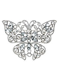 Mood Crystal Encased Butterfly Brooch