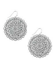 Mood Crystal Encased Disc Drop Earring