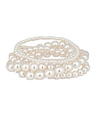 Mood Pearl Stretch Bracelets Set