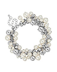 Mood Pearl and Ball Cluster Bracelet
