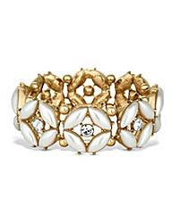 Mood Pearl Navette Crystal Link Bracelet
