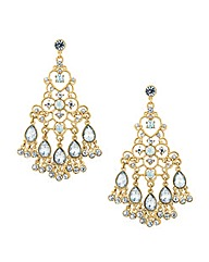 Mood Crystal Encased Chandelier Earring