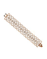 Mood Rose Gold Diamante Crystal Bracelet