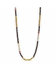 Mood Long Glass Bead Necklace