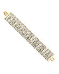 Mood Diamante Crystal Wide Bracelet