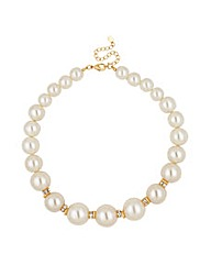 Mood Pearl and Crystal Rondel Necklace