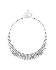Mood Diamante Crystal Graduated Necklace