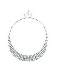 Mood Diamante Crystal Graduated Necklace