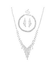 Mood Diamante Crystal Trio Set