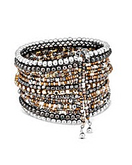 Mood Mixed Metal Seed Bead Bracelet