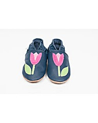 Hippychick Baby Shoes Navy/Pink Tulip