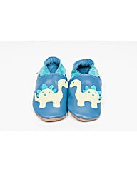 Hippychick Baby Shoes Blue Dinosaurs