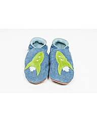 Hippychick Baby Shoes Blue Denim Rockets