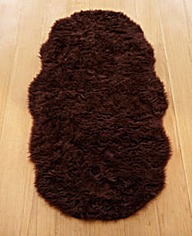 Faux Fur Shaggy Shaped Rug