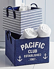 Pacific Club Storage Boxes Set of 2