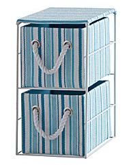 2 Drawer Stripe Paperloom Unit