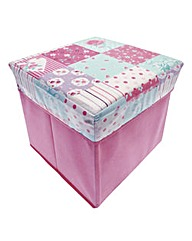 Square Novelty Storage Chest Patchwork