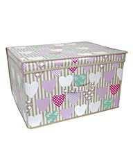 Hearts Print Storage Chest