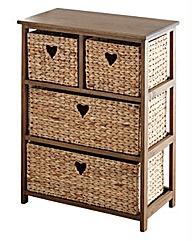 Hyacinth Hearts 2+2 Drawer unit