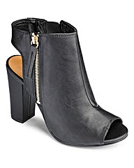 PEEP TOE OPEN HEEL ANKLE BOOT