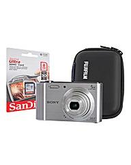 Sony DSC-W800 Silver Camera Kit