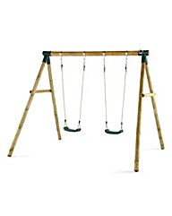 Plum Marmoset Wooden Garden Swing Set