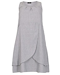 Feverfish Button Wrap Dress