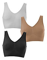 3 Pack Seamfree Comfort Tops