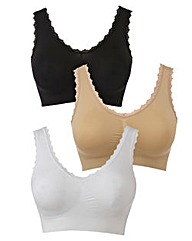3 Pack Seam Free Comfort Tops