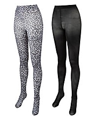 2 Pack 50 Denier Fashion Tights