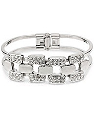 Mood Pave Crystal Link Hinge Bangle