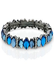 Mood Blue Crystal Stretch Bracelet
