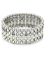 Mood Pearl Facet Bead Stretch Bracelet