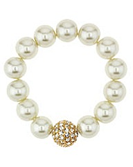 Mood Pearl And Crystal Ball Bracelet