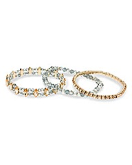Mood Diamante And Bead Bracelet Pack