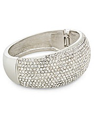 Mood Pave Crystal Dome Hinged Bangle