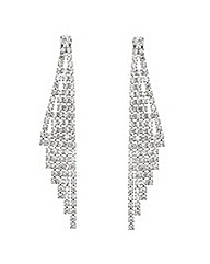 Mood Slanted Diamante Drop Earring