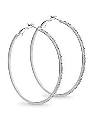 Mood Crystal Large Hoop Earring